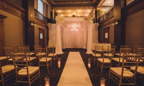 Dimly lit intimate wedding venue Toronto