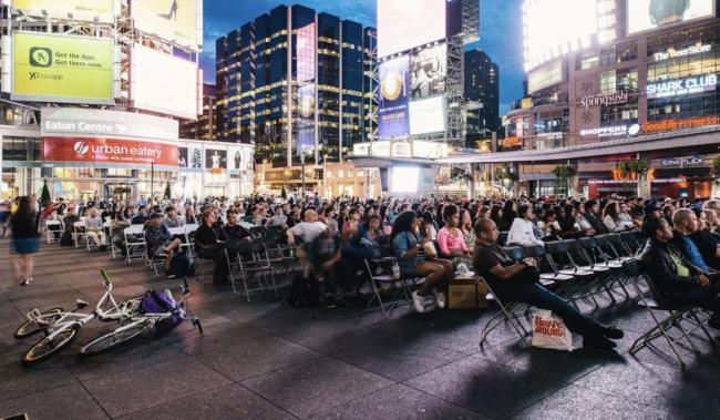 Yonge & Dundas Square Movie Night