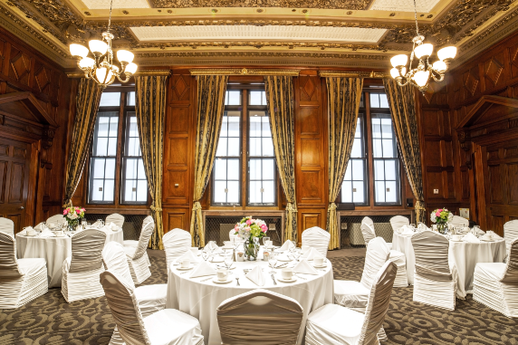 View of the chairman's board room intimate wedding venue.