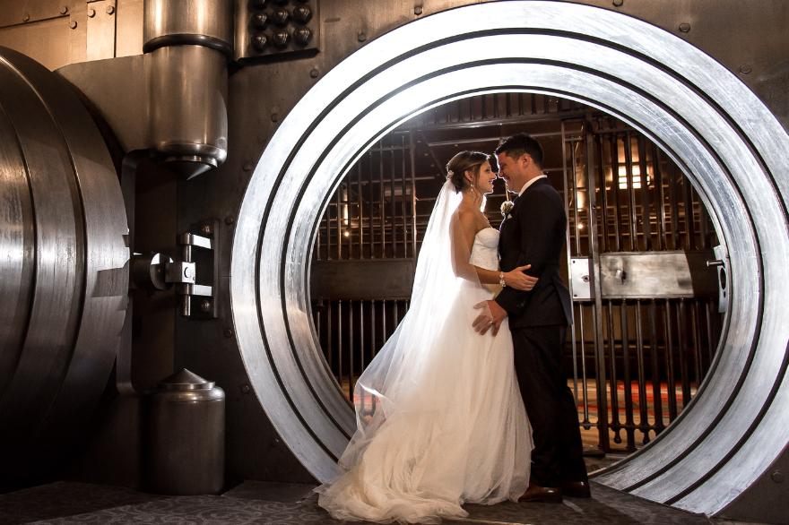 Marriage in unique wedding venues Toronto vault