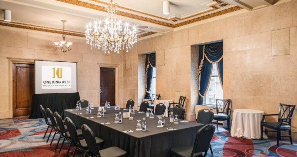 An example of hotel conference rooms in One King West.
