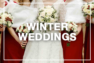 Bride and bridesmaid at a winter wedding