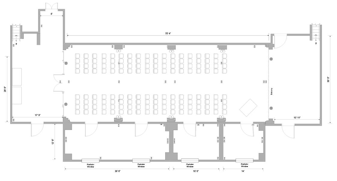 floor plan of Austin gallery OKW