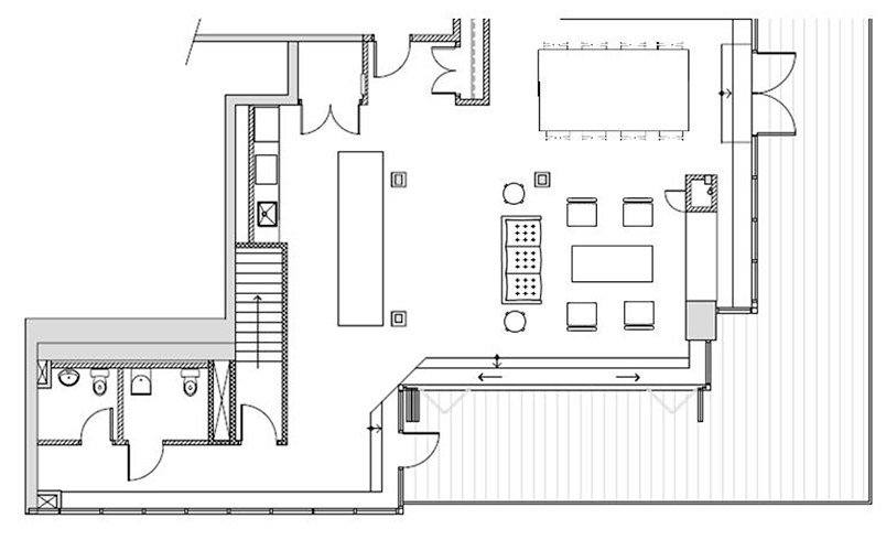 floor plan of a nice Toronto hotel room