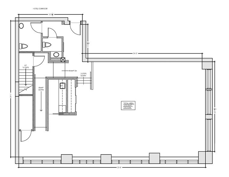 Toronto hotel room floor plan blueprint