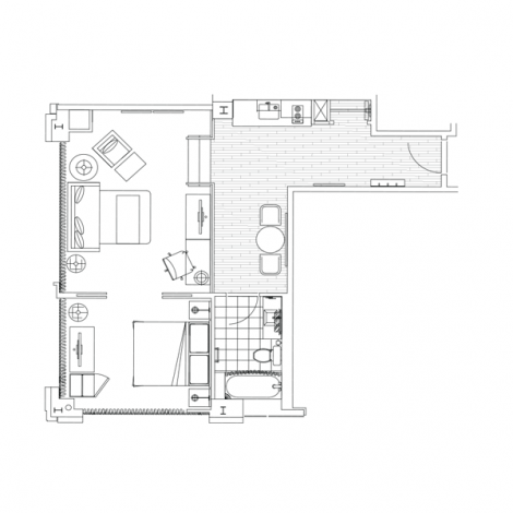 Toronto Hotel Gaskin Suite Floorplan