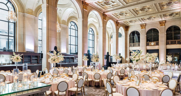 Banquet hall of unique wedding venues Toronto has