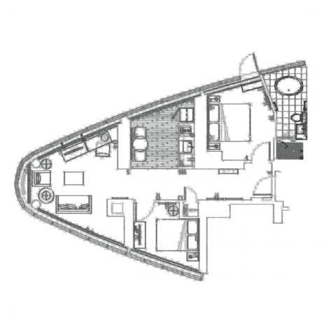 Toronto Hotel The Pinnacle Floorplan