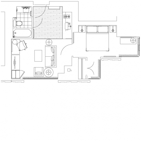Tower suite floorplan for one king west toronto hotel