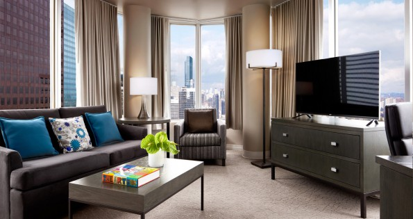 Circular Toronto hotel suite at OKW hotels in Toronto